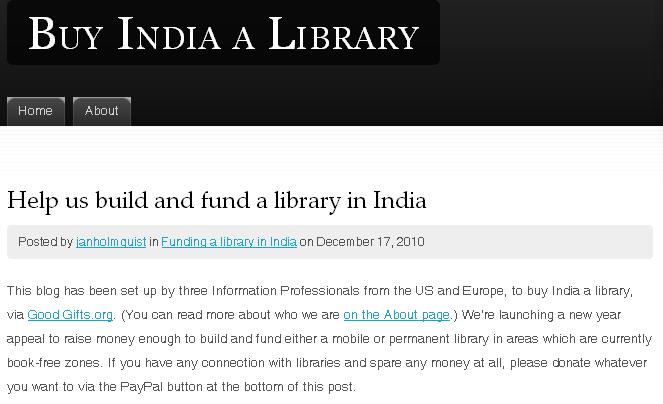 Click here to go to the Buy India a Library blog!