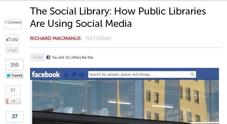 The Social Library- How Public Libraries Are Using Social Media