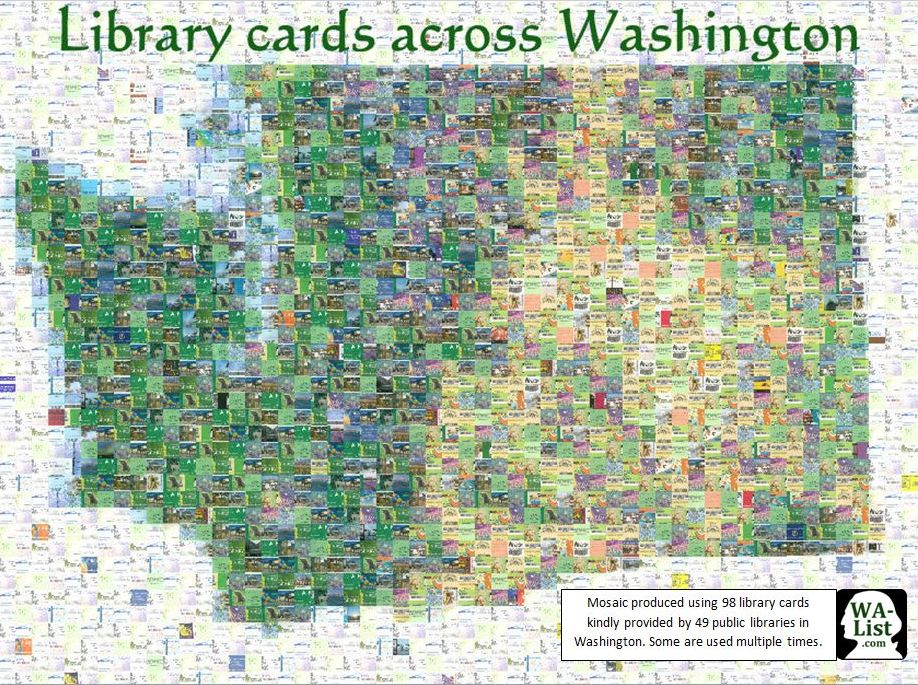 Library Card Mosaic