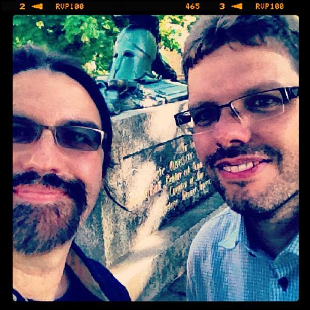 Jan and Michael in Helsinki