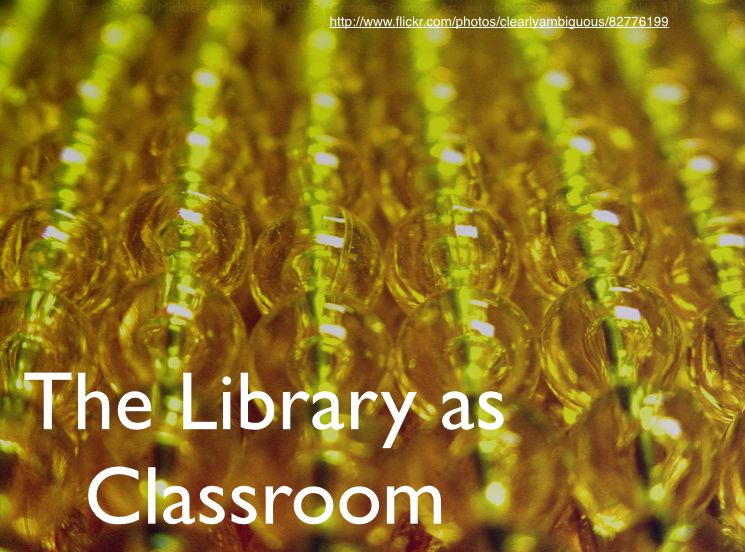 #library2016 Library As Classroom Online Conference Slides & Links