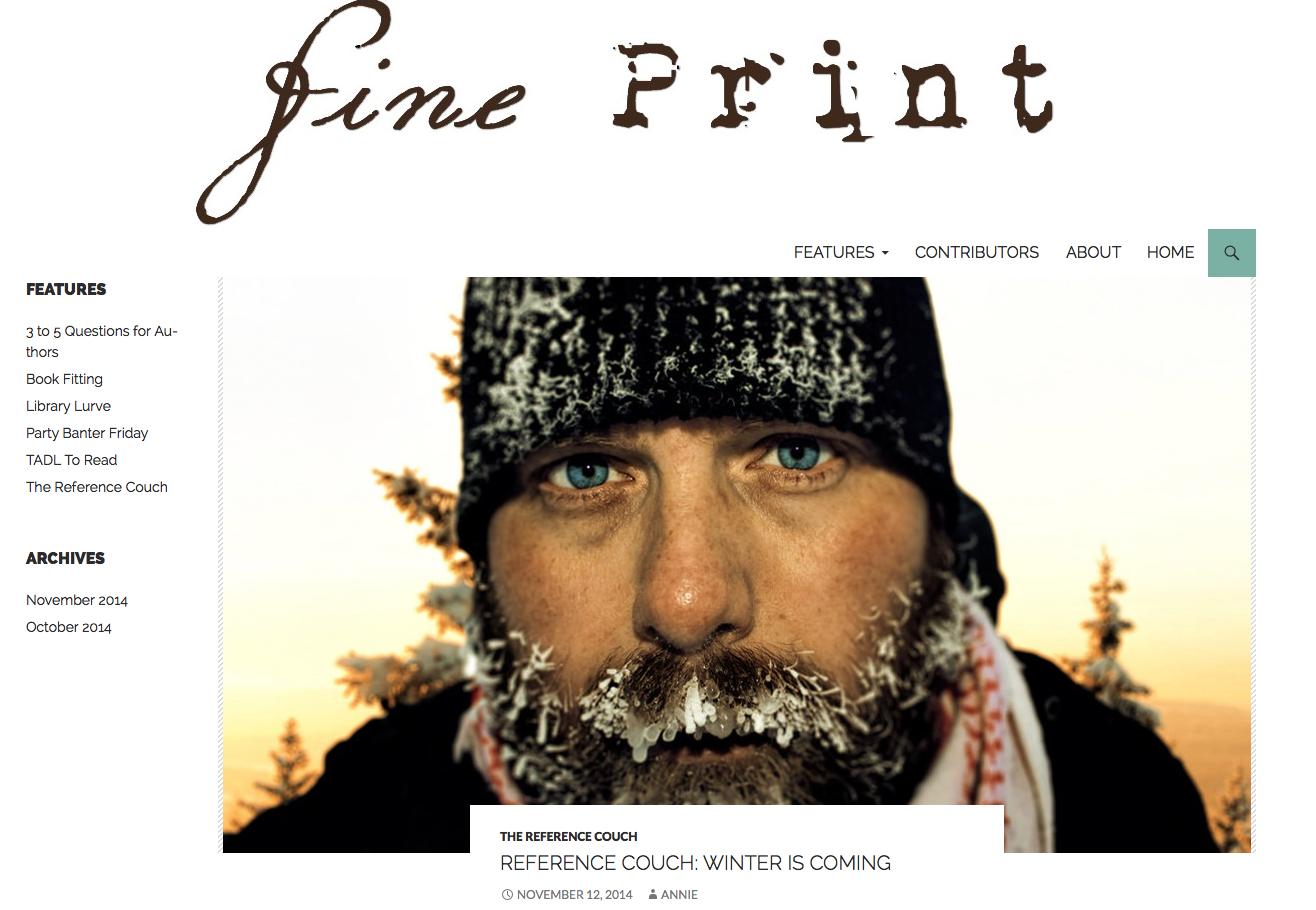 Library Blogging: TADL's Fine Print
