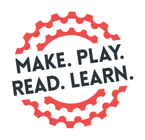 Make. Play. Read. Learn Logo designed by Kyle Gordy http://kylegordydesign.com/