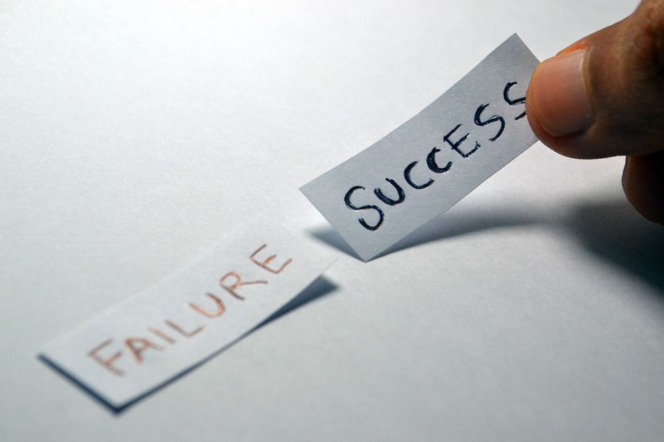 Failure Success Handwritten Notes