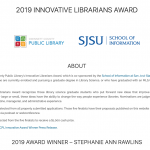 GCPL & SJSU School of Information Announce Winner of the 2019 Innovative Librarians Award