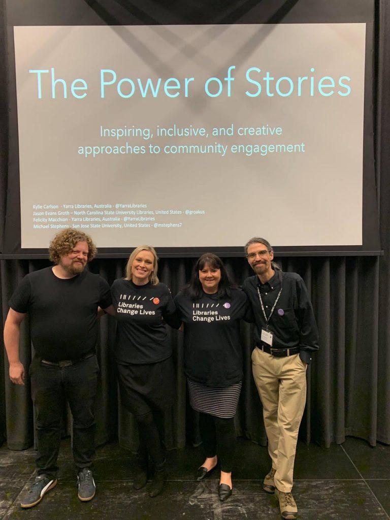 Group picture of the 4 members who presented The Power of Stories discussion